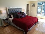 King size bed at the master bedroom.