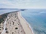 Halikounas beach 25 mins drive