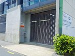 Entrance to the secure garage - one parking space is included with your booking