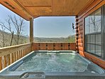 End the day with a refreshing soak in the hot tub.