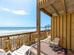 Oceanfront Deck - Partially Covered