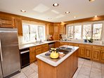 Full kitchen with lots of natural light