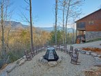 Large fire pit with great views