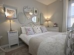 We hope you like the sumptuous styling in the 2nd double bedroom. Mirrors galore
