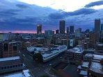 Dawn over CBD from Balcony