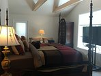 Master King Bedroom with private full Bathroom and four postered King Bed.  Direct TV with 50' TV