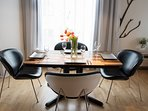 Dining table set for 4 people
