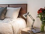 Bed linen details.