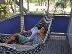 Hammock on screened deck off of the 2nd floor master suite
