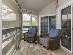 Enjoy the Florida weather on the screened patio.