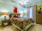 Guest bedroom 1 with fun bright colors.