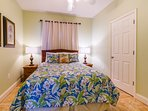 Guest Bedroom 2 with Queen size bed and Tommy Bahama bedding.