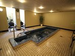 Soak sore muscles in the indoor hot tub (will be available soon!)