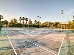 Play a match of tennis on the community courts!