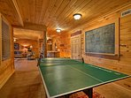 Get your competitive juices flowing on the ping pong table.