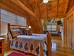 Complete with a queen bed and twin bed, this room is great for families.
