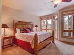 Luxurious king master suite with ensuite bath and private deck