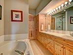 Gorgeous 5-piece master bathroom
