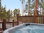 Relax and unwind in your private outdoor hot tub