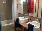 plenty of roomm with double sinks