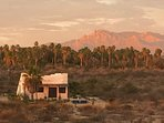 Sunset on the Sierra Laguna mountains behind the casita - paradise between the mountains and sea.