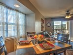 Savor hearty meals at this 4-person table.