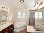 Master bathroom with jacuzzi bathtub