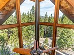 Beautiful views of the Lake Tahoe forest from the upstairs loft