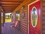 Start each morning with a cup of coffee on the shaded front porch.