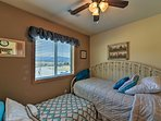 This 3rd bedroom is ideal for children or teens with 2 twin beds.