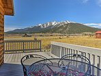 The home offers breathtaking views of the Collegiate Peaks!