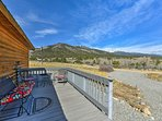 Enjoy summertime BBQs out on the deck while admiring the mountain views.