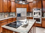 The large granite counters make meal prep a breeze!