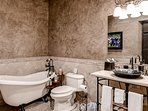 Three full bathrooms provide everyone plenty of room to get ready.