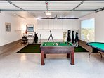 Get your competitive juices flowing in the game room.