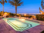 Relax by the private pool as you look out over the desert and Strip.