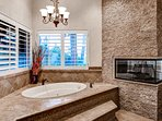 End the day with a relaxing soak in the Jacuzzi tub.