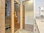 Melt away your stress in the infrared sauna.