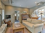 Comfortable furnishings make the space feel just like home.