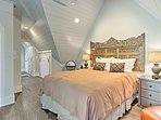 This queen bed will usher you straight to sleep!