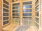 The sauna is the perfect way to end any outdoor adventure.