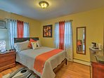 Boasting a full bed and elegant decor, this room is perfect for couples.