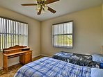 Kids can claim this room with 2 twin beds.