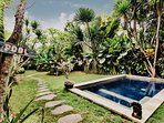 A gorgeous one bedroom villa on 300 sqm of land nestled in an oasis of a lush garden.