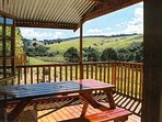 chalet sun deck with lovely view