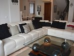 Brand New leather suite with reclining backs