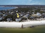 Private Beachfront Home on Great Island