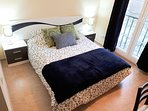 Double bedroom with king size bed, double wardrobes and dressing table.  Great views!