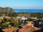 180 degree from the rooftop, sayulita's bay