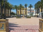 Traditional town square, Ayamonte.